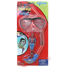 Marvel Spiderman 3 Pc Dive Set  Swim Mask Snorkel Goggles Dive Stick Snorkeling