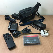 Sony Handycam CCD-TR780E PAL Video Hi8 Charger Battery 1 Tape Remote Control