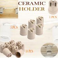 CERAMIC porcelain E27 bulb EDISON SCREW heat Light socket lamp holder 1,5,10 pcs