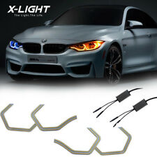 Switchback M4 Iconic Style Dual-Color Led Angel Eye Kit w/Relay Wirings For Bmw