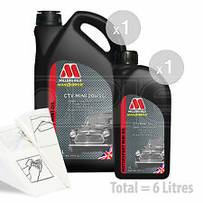 Car Engine Oil Service Kit / Pack 6 LITRES Millers CTV 20W-50 Semi Synth 6L