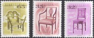Hungary 1999 (2003) Antique Furniture/Chairs/Design/Heritage/Craft 3v set hx1037