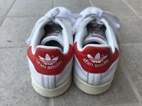 Adidas Stan Smith bianche e rosse Scarpe da ginnastica TG 39 1/3