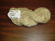 Acrylic Chenille Yarn 500 YPP 1 Skein 4 oz. Wheat.