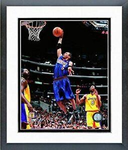 "Allen Iverson Philadelphia 76ers NBA Action Photo (Size 12.5"" x 15.5"") Framed"