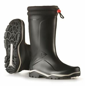 Dunlop Blizzard 2 Black Wellington Boots Warm Fleece