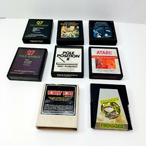 Lot of 8 Atari 2600. Raiders of the lost Ark,, Asteroids, Game Cartridges  Only.