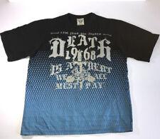 Blac Label Men's T-Shirt Black Graphic Metal Studs