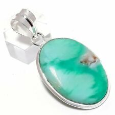"Chrysophrase Gemstone Handmade Silver Fashion Jewelry Pendant 2.0"" SP7424"