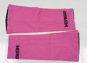 Verge Women's Fleece Knee Warmers Pink/Black Medium Brand New