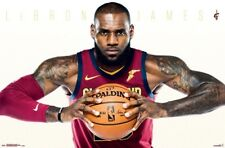 LEBRON JAMES - CLEVELAND CAVALIERS POSTER - 22x34 NBA BASKETBALL 16272