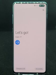 Samsung Galaxy S10+ SM-G975U - 128GB - Prism Blue (GSM Unlocked) See Description