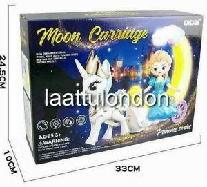 Kids unicorn Moon Carriage Elsa Princess Series light & music toy gift