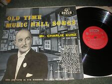 OLD TIME MUSIC HALL SONGS CHARLIE KUNZ DECCA HIGH FIDELITY LK4131 PLAYS SUPERBLY