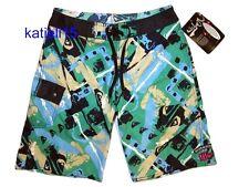 Brand New Quiksilver Logo Board Shorts Surf Swim Green Men's size 32
