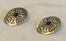 Genuine Colonial Earrings NAVAJO Sterling Silver SN