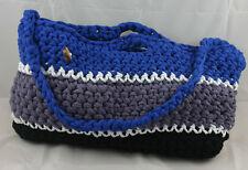 lotte-vogel bag (Handtasche 47x27cm) (blau-grau-schwarz) - Made in Germany