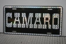 RETRO 1970'S PRISM CAMARO METAL LICENSE PLATE SS Z-28 396 427 DAY 2 SPEED PARTS