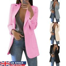 Women Ladies Long Sleeve Slim Blazer Suit Coat Work Jacket Formal Suit Plus Size