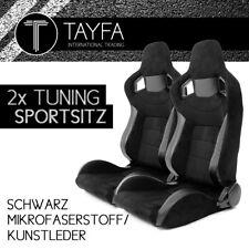 2x Autosportsitz Sportsitz Racingseat schwarz Kunstleder Mikrofaser Schalensitz
