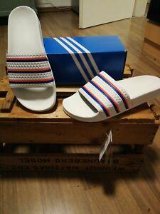Adiletten 43 1/3, UK 9, Neu, OVP, Weiß, Adidas Sneaker