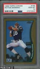 1998 Topps Chrome Peyton Manning Indianapolis Colts RC Rookie PSA 10 GEM MINT