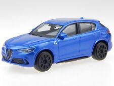 Alfa Romeo Stelvio blue diecast model car 30389 Bburago 1:43
