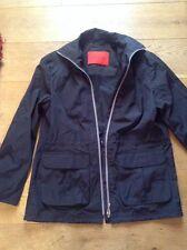 BLACK ANORAK JACKET 14 Designer BETTY BARCLAY Coat Uk Size 14