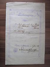 Preussen Urkunde zum Eisernes Kreuz 2.Klasse 1914  I.R.193