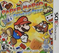 Paper Mario Sticker Star (Nintendo 3DS, 2012) Brand New Factory Sealed