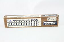 10x 8506 Voie droite juste indemnisation 108,6 mm Märklin Z emballage d'origine