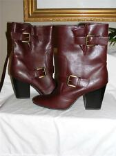 New MOOTSIES TOOTSIES Brown vegan Leather boots 8.5 very comfortable side buckle