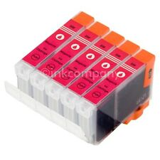5 Druckerpatronen + Chip CLI8 magenta IP3300 IP3500 IP4200 IP4500 IP5200R MP800