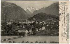 Interlaken, s/w Ansichtskarte Schweiz 1904