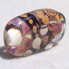 BLACK HILLS Handmade Art Glass Focal Bead Flaming Fools Lampwork Art Glass SRA