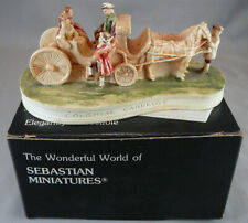 Vintage Sebastian Miniatures Figure With Box 1957 Colonial Carriage #6215