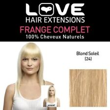 Love Hair Extension Human Hairs Limited Edition Full Fringe Colour 24 Sunlight