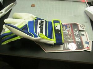 BLUE NEO 100 ADULT SIZE SMALL BATTING GLOVES FRANKLIN NWTS