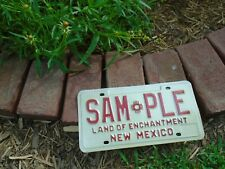 New Mexico SAMPLE License Plate