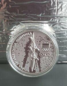 2021 Tokyo  Polish Olimpic Team 10 zloty Silver Proof RARE