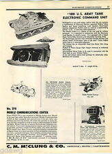 1957 ADVERT Maco Tronic US Army Tank Electronic Command Unit Toy Rocket Cannon