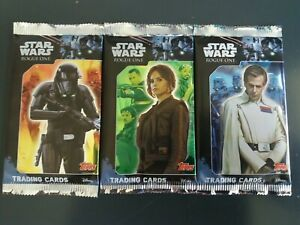 Star Wars Rogue One Trading Card Packs x3