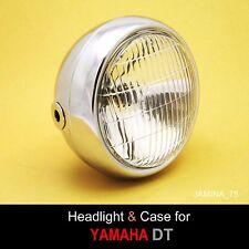 "Yamaha DT80 DT100 DT125 DT175 DT250 DT400 Headlight 6 V. Chrome Bucket Case 5.5"""