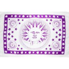 Purple on White Celestial Sarong or Wall Hanging!