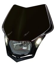 Mascherina Faro Anteriore Moto Racetech V-face LED Nero Rtech Headlight Enduro