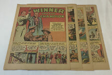 1943 six page cartoon story ~ boxer BARNEY ROSS