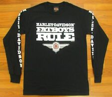Harley Davidson 2014 Black Fat Boys Fatboys Rule Long Sleeve Shirt.