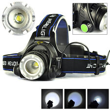 10000LM Zoom XM-L T6 LED 18650 Headlamp Torch Headlight Rechargeable Head Lamp