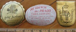 Madrid - Espana / Spain THREE Hotel Luggage Labels - 1