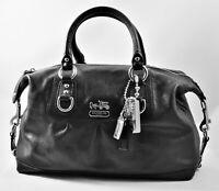 NEW - COACH Madison Sabrina Black Leather Satchel coverts to Shoulder Bag 12937